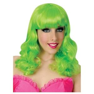 Popstar Magik Wig Collection Green Adult Wig NWT